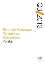 Barometr Manpower Perspektyw Zatrudnienia Q3 2013