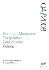 Barometr Manpower Perspektyw Zatrudnienia Q4 2008