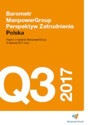 Barometr ManpowerGroup Perspektyw Zatrudnienia Q3 2017