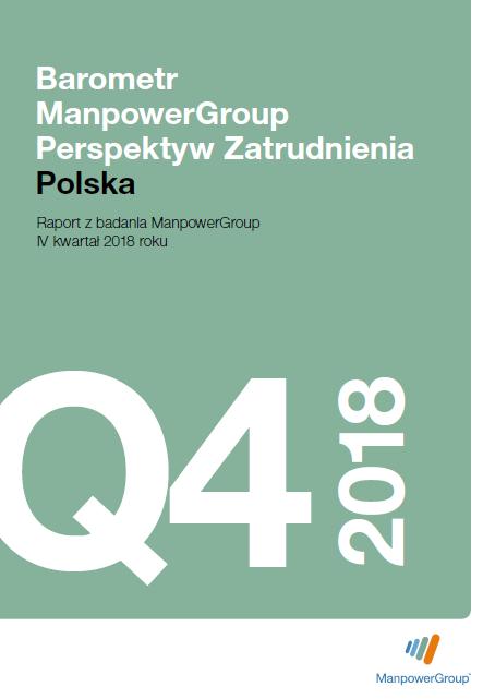 Barometr ManpowerGroup Perspektyw Zatrudnienia Q4 2018